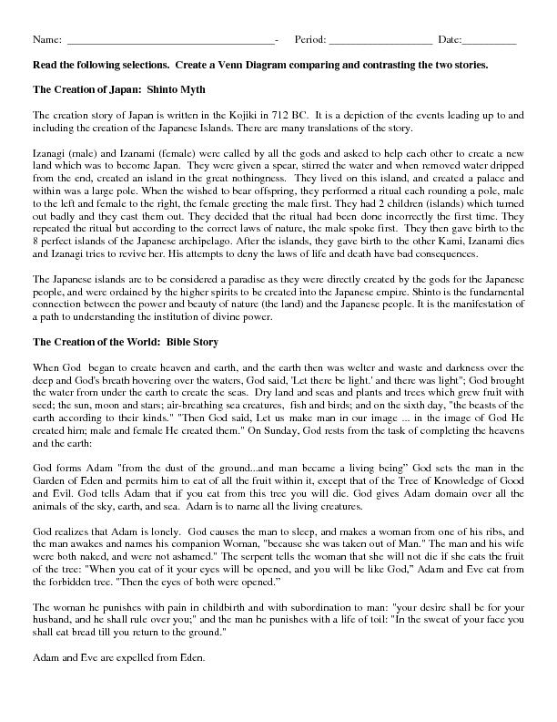 Creation myth essay