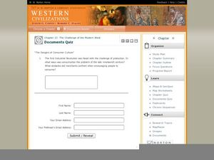 Western Civilizations, Chapter 23: Modern Industry and Mass Politics, 1870-1914 Worksheet