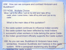 comparison between buddhism and hinduism