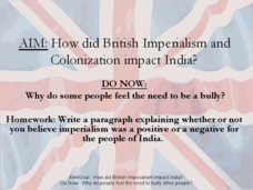 impact of british colonialisation on indian Impact on india certain impacts of colonialism can still be felt until today such as: 1 economic aspect under colonial rule, india often depended on great britain for such things as technological advances and manufactured goods.