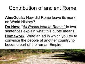 Contributions of Ancient Rome Presentation