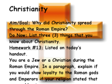 Why Did Christianity Spread through the Roman Empire? Presentation