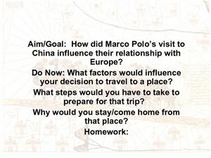 Marco Polo and China Presentation