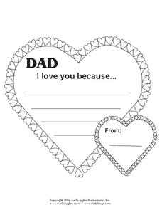 Father's Day Card Worksheet
