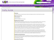 Fatty Acids Lesson Plan