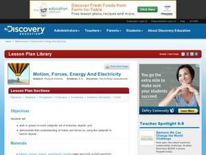 Motion, Forces, Energy and Electricity Lesson Plan