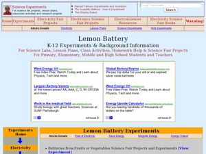 Lemon Battery Lesson Plan