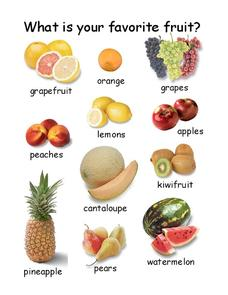 Favorite Fruit Worksheet