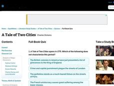 A Tale of Two Cities Quiz Interactive