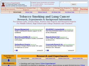 Tobacco Smoking and Lung Cancer Lesson Plan