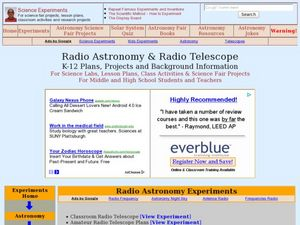 Radio Astronomy and Radio Telescope Lesson Plan