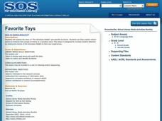 Favorite Toys Lesson Plan