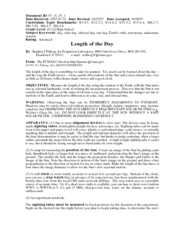 Length of the Day Lesson Plan