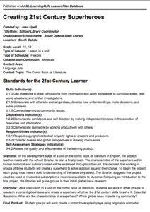 Creating 21st Century Superheroes Lesson Plan