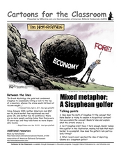 Cartoons for the Classroom: Obama as the New Sisyphus Worksheet