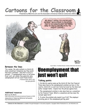Cartoons for the Classroom: Unemployment that Just Won't Quit Worksheet