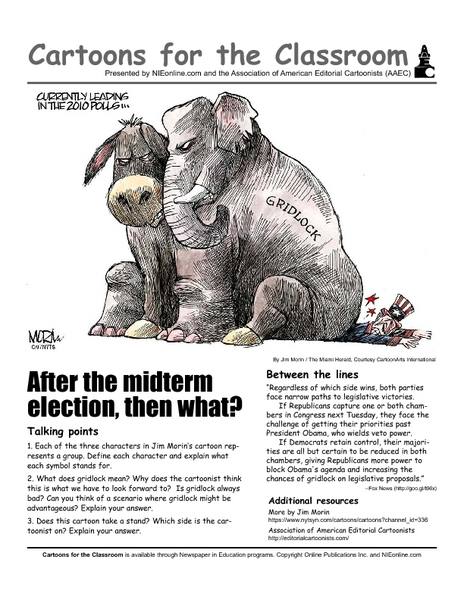 Cartoons for the Classroom: Gridlock in 2010 Elections