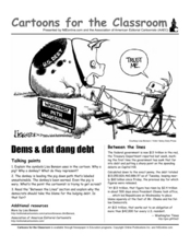 Cartoons for the Classroom: Dems and dat dang debt
