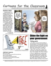 Cartoons for the Classroom: Shine the Light on Your Government Worksheet