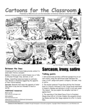 Cartoons for the Classroom: Sarcasm, Irony, and Satire Worksheet