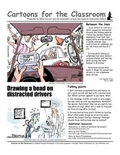 Cartoons for the Classroom: Distracted Drivers Worksheet