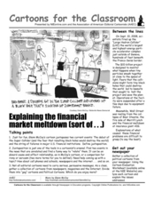 Cartoons for the Classrooms: Wall Street Financial Meltdown Worksheet