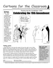 Cartoons for the Classroom: Celebrating the 19th Amendment Worksheet