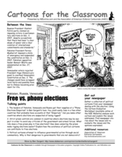Cartoons for the Classroom: Fair Elections?  Worksheet