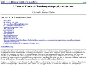 A Taste of Korea: A Chemistry-Geography Adventure Lesson Plan