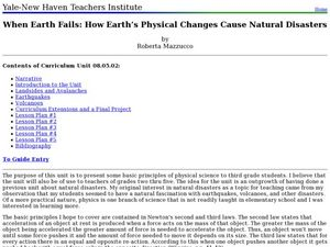 When Earth Fails: How Earth?s Physical Changes Cause Natural Disasters Lesson Plan