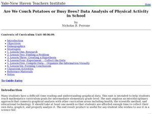 Are We Couch Potatoes or Busy Bees? Data Analysis of Physical Activity in School Lesson Plan