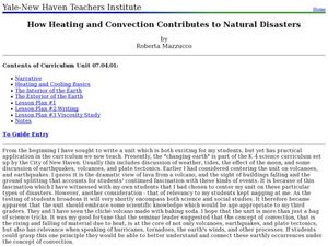 How Heating and Convection Contributes to Natural Disasters Lesson Plan
