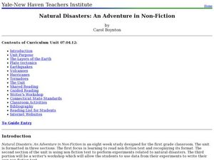 Natural Disasters: An Adventure in Non-Fiction Lesson Plan
