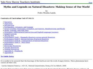 Myths and Legends on Natural Disasters: Making Sense of Our World Lesson Plan