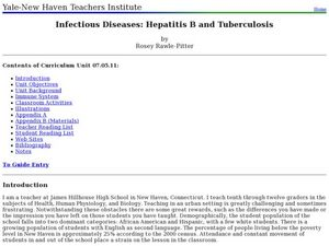Infectious Diseases: Hepatitis B and Tuberculosis Lesson Plan