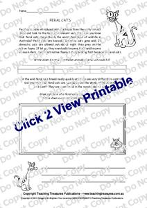 Feral Cats Worksheet