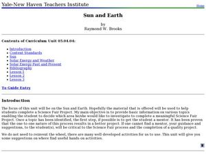 Sun and Earth   Lesson Plan