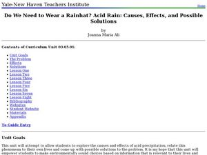 Do We Need to Wear a Rainhat? Acid Rain: Causes, Effects, and Possible Solutions   Lesson Plan