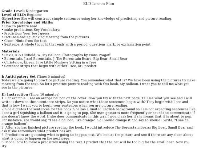Berenstain Bears Lesson Plans Worksheets Reviewed By Teachers. Eld Lesson Plan Making Predictions. Worksheet. Berenstain Bears Worksheets At Mspartners.co