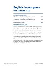 English Lesson Plans for Grade 12 Lesson Plan