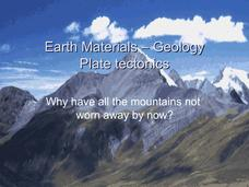 Earth Materials - Geology and Plate Tectonics Presentation