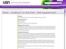 Fiber - Adding It To The Diet - Skill Supplement Lesson Plan