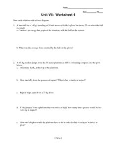 Unit VII: Worksheet 4 - Energy Worksheet for 9th - 12th Grade ...