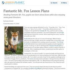 Fox Lesson Plans Worksheets Lesson Planet