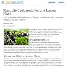 Plant Reproduction Lesson Plans & Worksheets | Lesson Planet