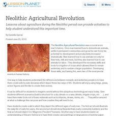 Neolithic revolution essay help