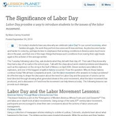 Labor Day Lesson Plans Worksheets Lesson Planet