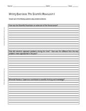 Writing Exercises: The Scientific Revolution I