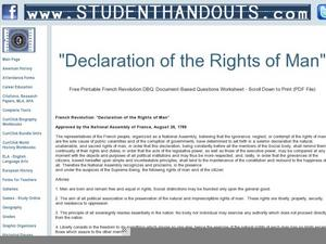 Lesson Plans Rights of Man