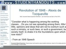 an overview of the french revolution and the definitions by alexis de tocqueville Overview the famous french writer on american government and society alexis de tocqueville once wrote that america was a nation of joiners this facet of american political life has not.
